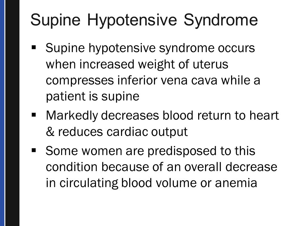 Supine Hypotensive Syndrome