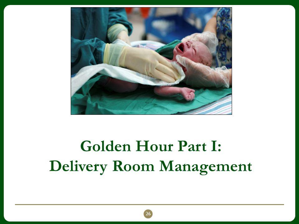 Golden Hour Part I: Delivery Room Management