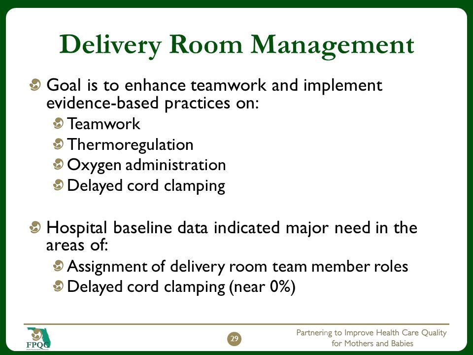 Delivery Room Management