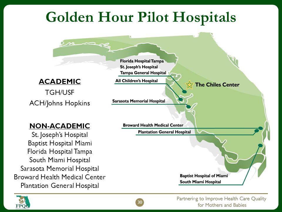 Golden Hour Pilot Hospitals