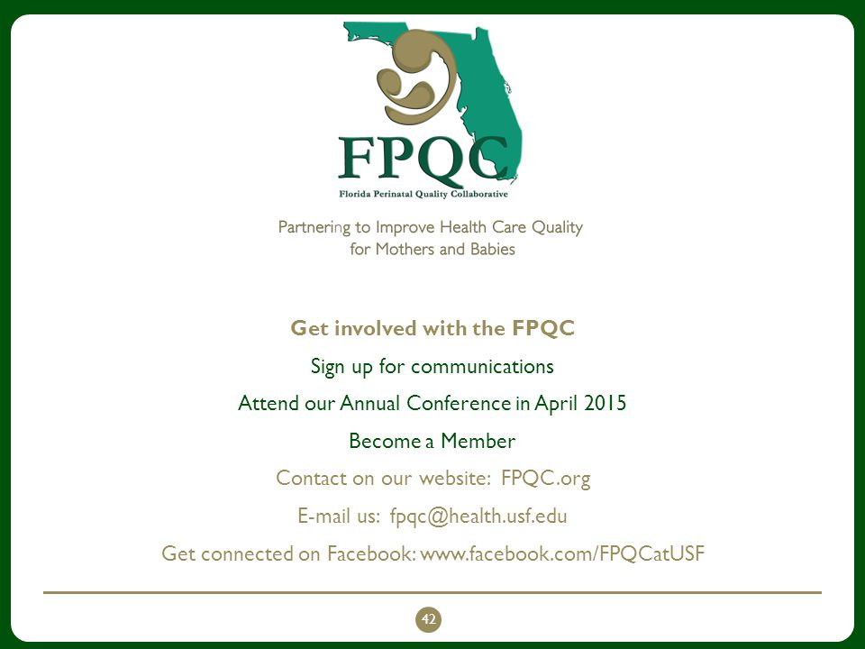 Get involved with the FPQC