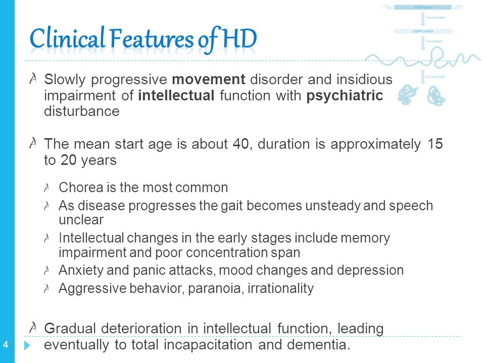 Clinical Features of HD