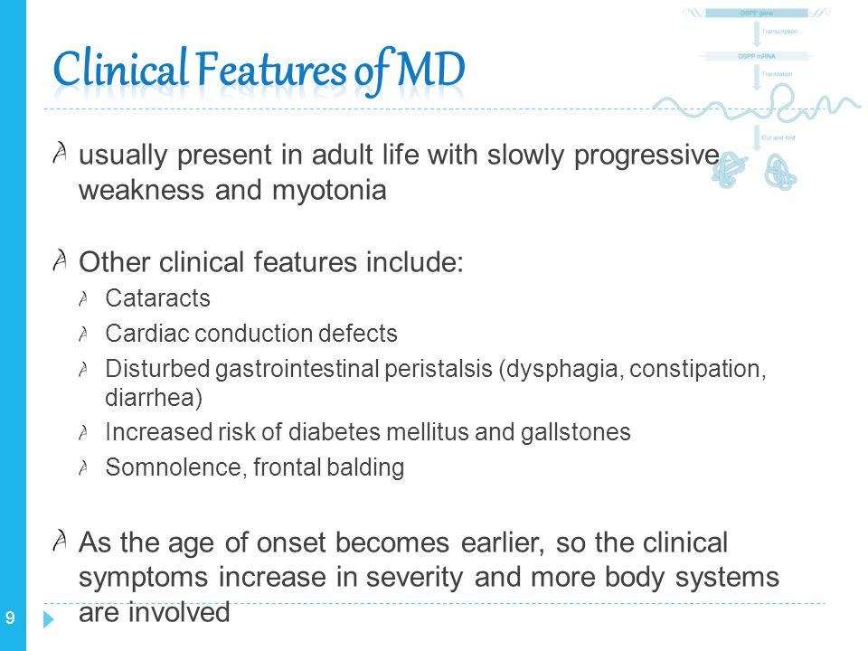 Clinical Features of MD