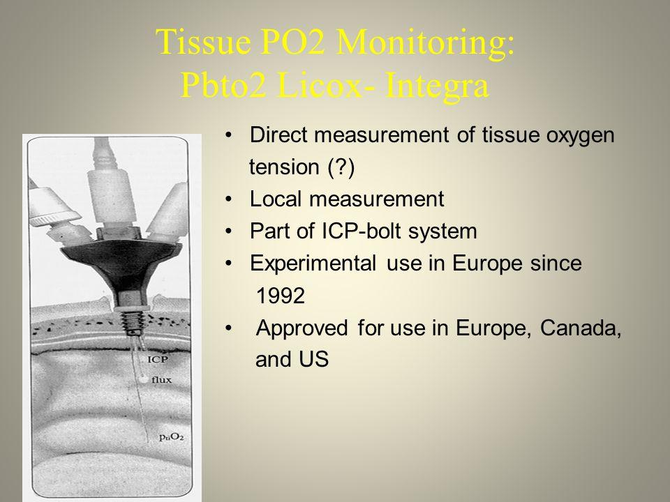 Tissue PO2 Monitoring: Pbto2 Licox- Integra