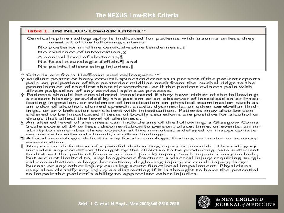 The NEXUS Low-Risk Criteria