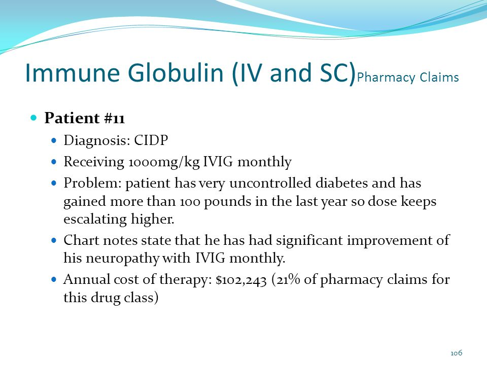 Immune Globulin (IV and SC)Pharmacy Claims