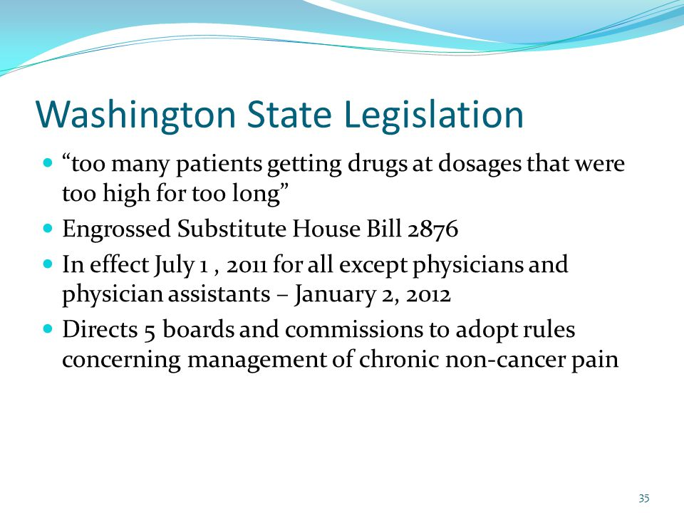 Washington State Legislation