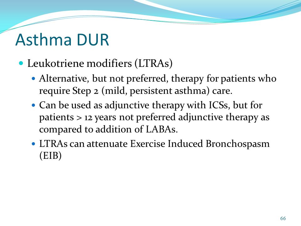 Asthma DUR Leukotriene modifiers (LTRAs)