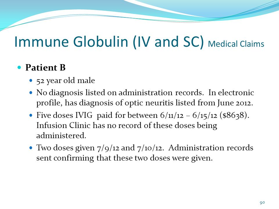 Immune Globulin (IV and SC) Medical Claims