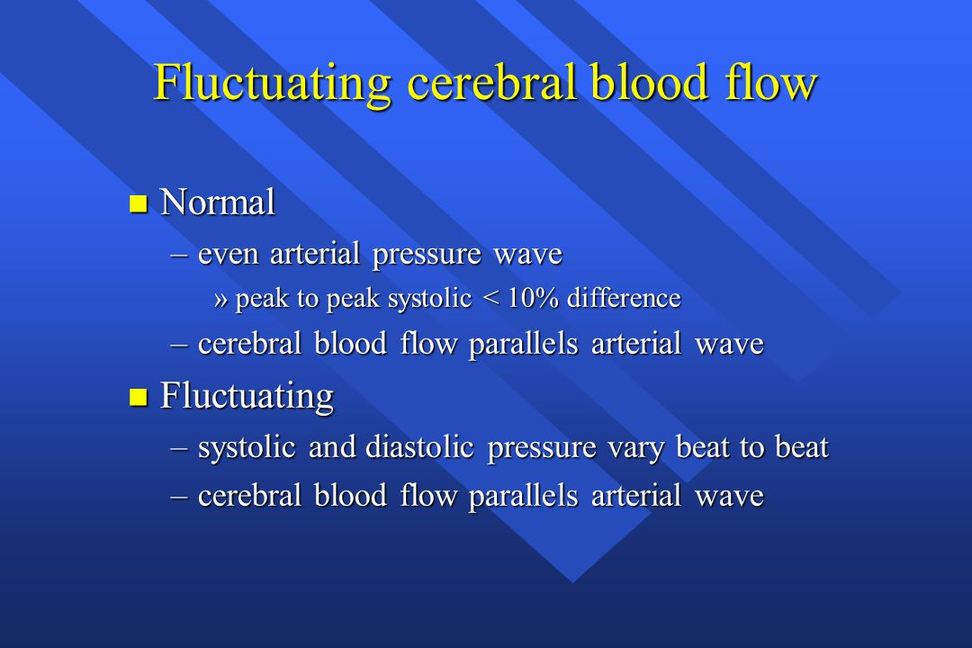 Fluctuating cerebral blood flow