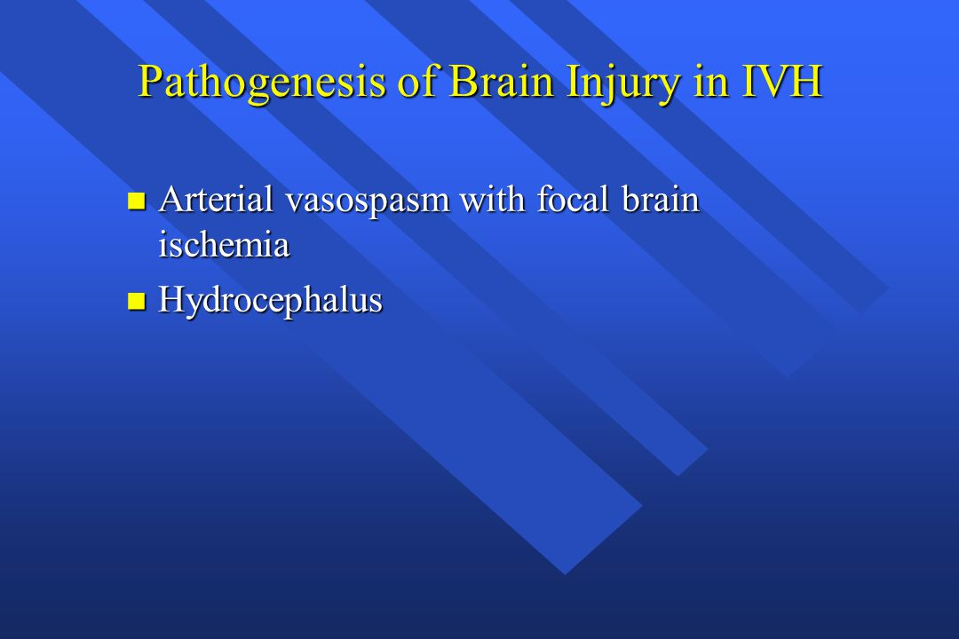 Pathogenesis of Brain Injury in IVH
