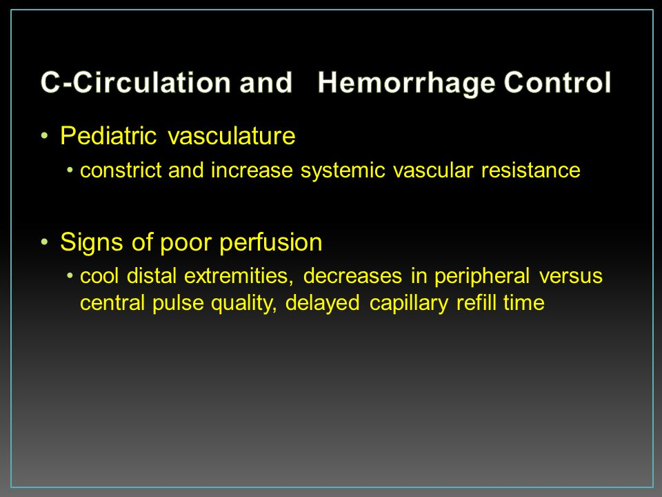 C-Circulation and Hemorrhage Control
