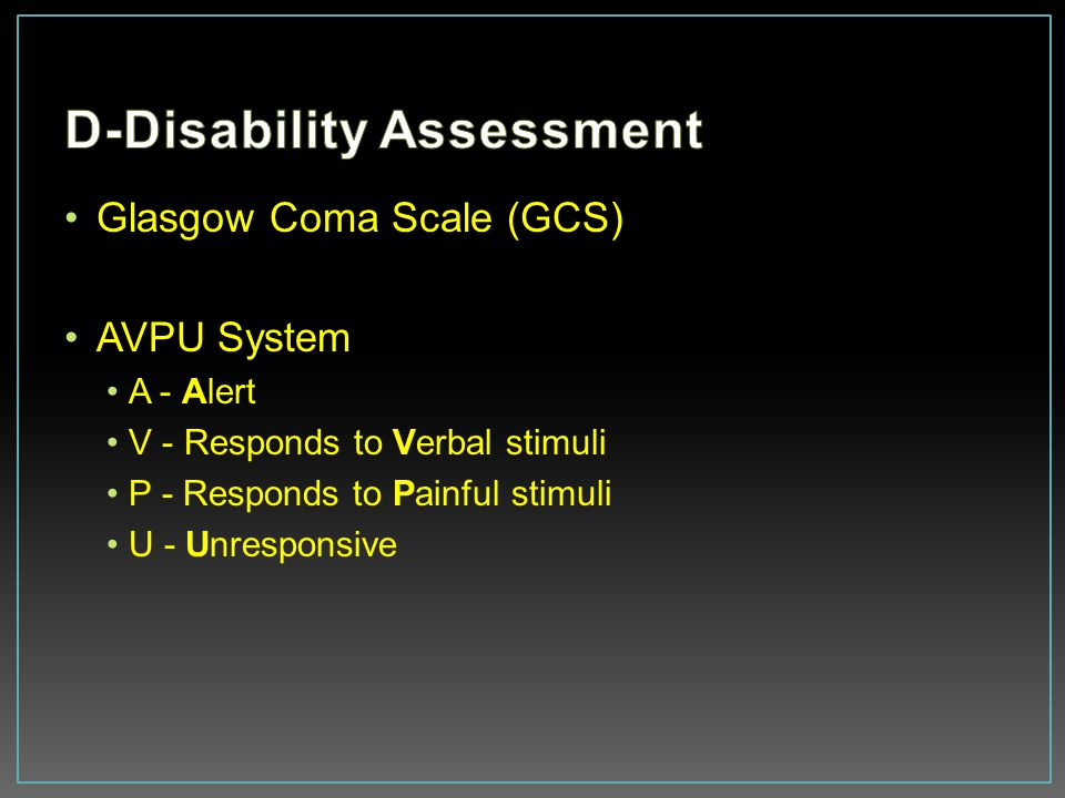 D-Disability Assessment