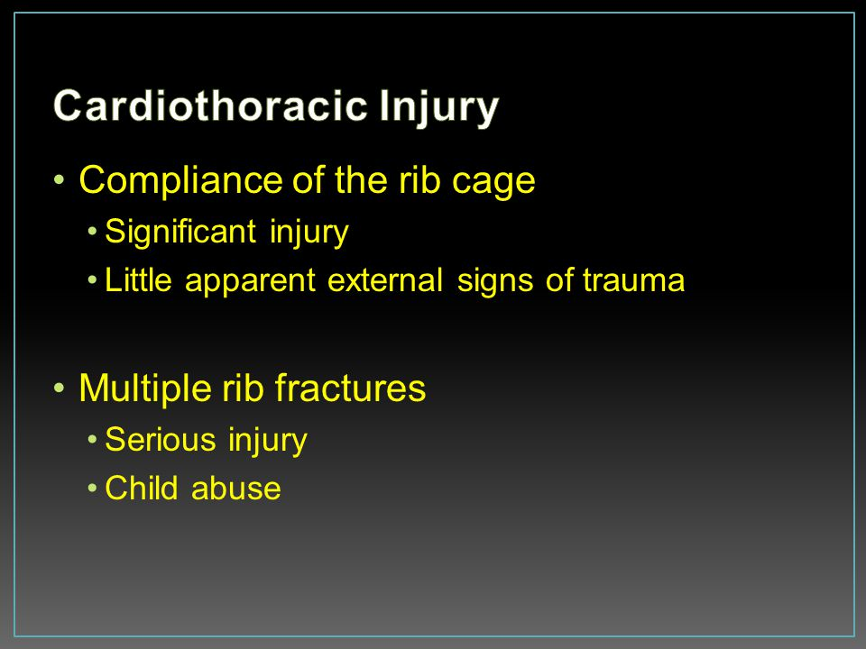 Cardiothoracic Injury