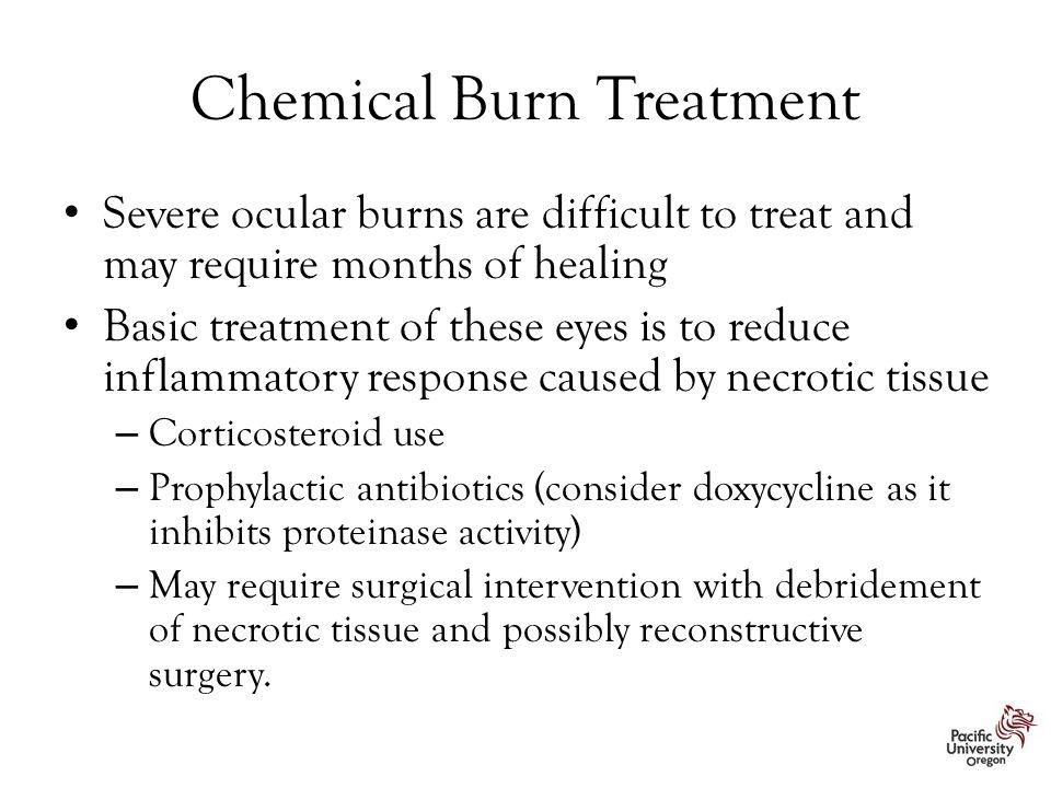 Chemical Burn Treatment
