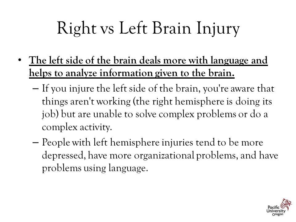 Right vs Left Brain Injury