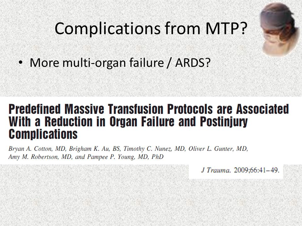 Complications from MTP