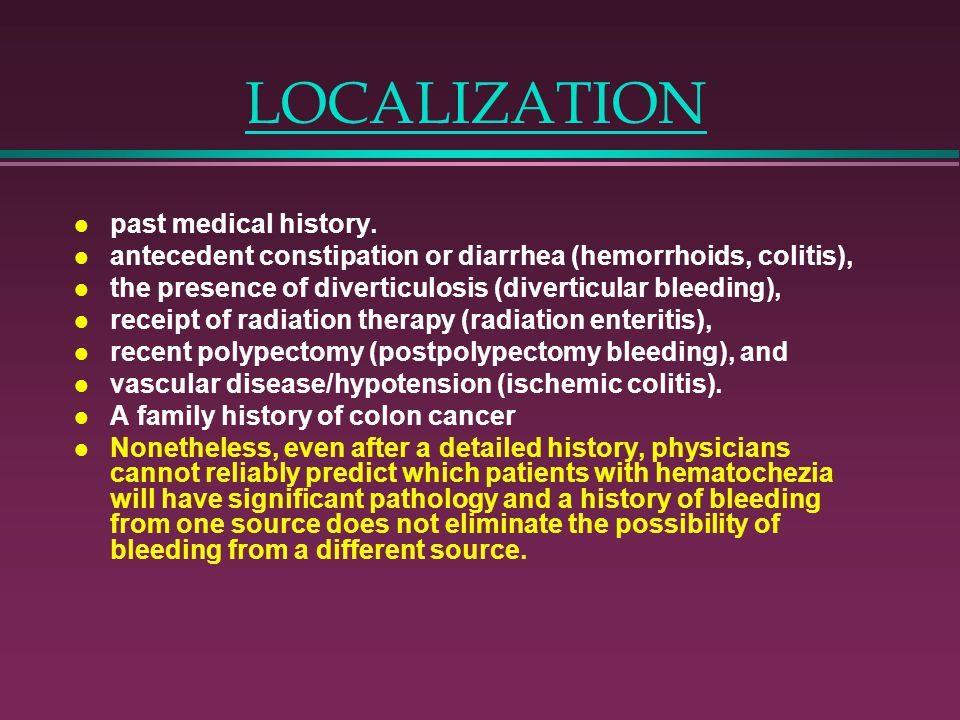 LOCALIZATION past medical history.