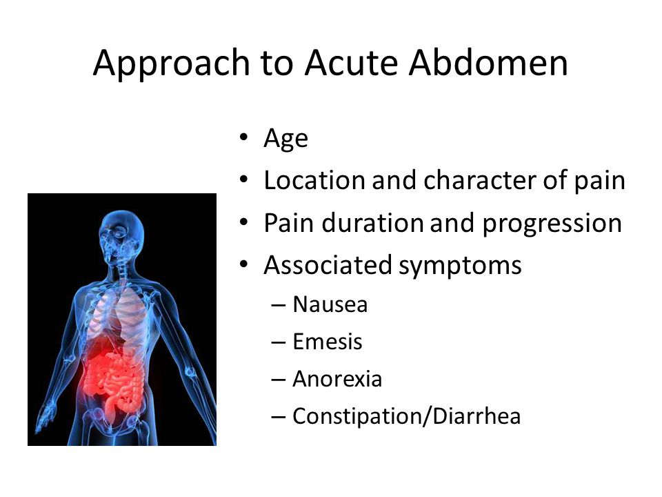 Approach to Acute Abdomen