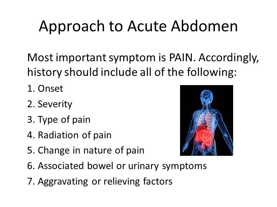 Approach to Acute Abdomen