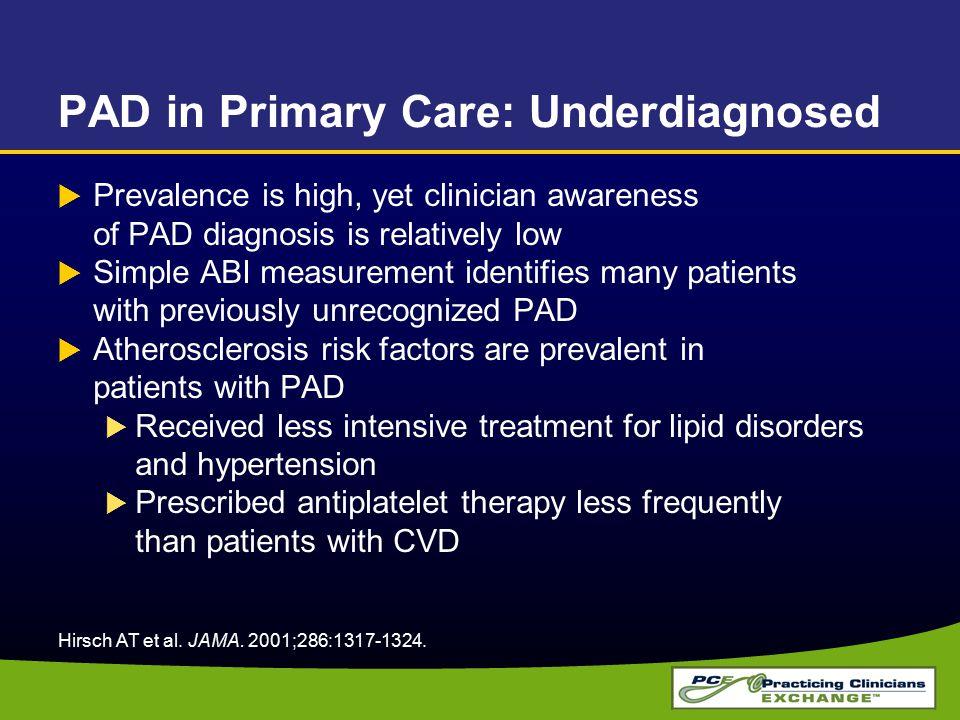 PAD in Primary Care: Underdiagnosed