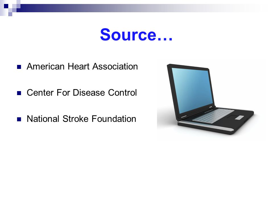 Source… American Heart Association Center For Disease Control
