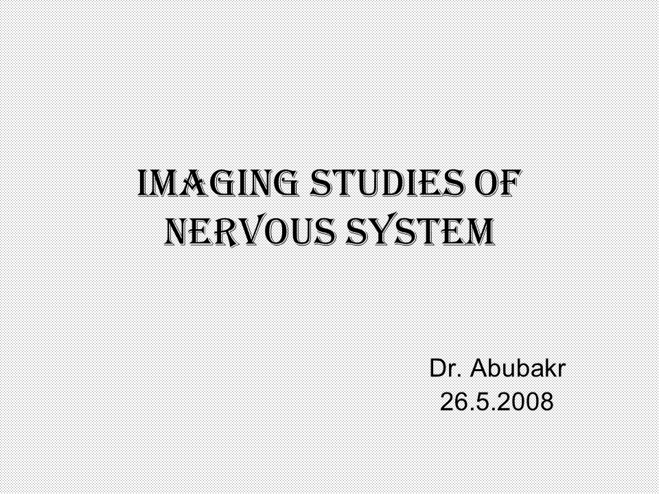 Imaging studies of nervous system