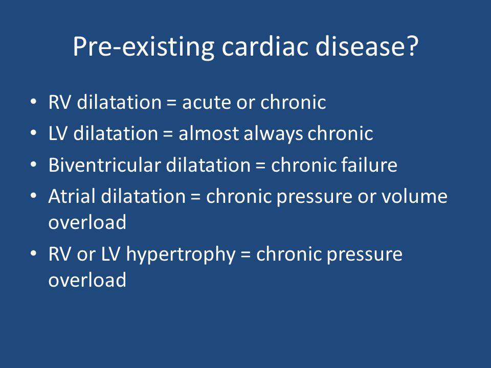 Pre-existing cardiac disease