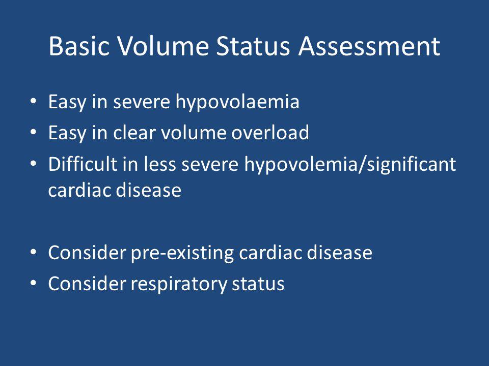 Basic Volume Status Assessment