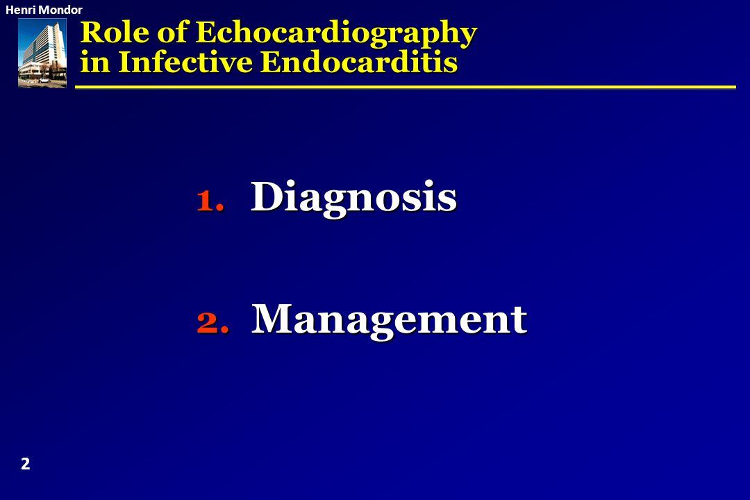 Diagnosis Management Role of Echocardiography