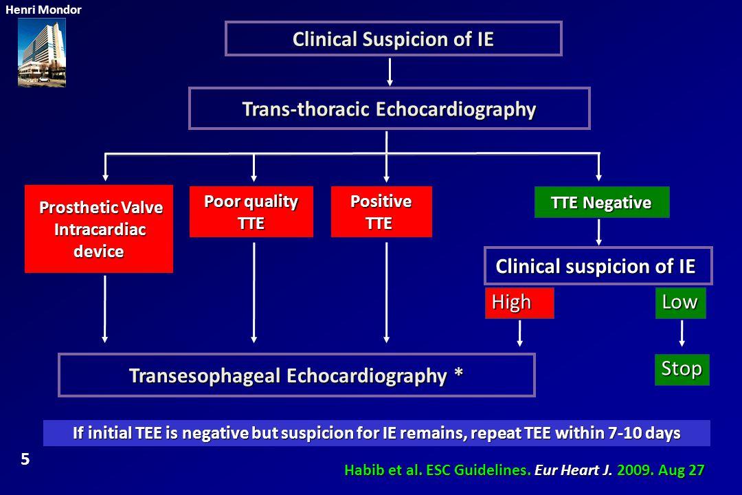 Clinical Suspicion of IE