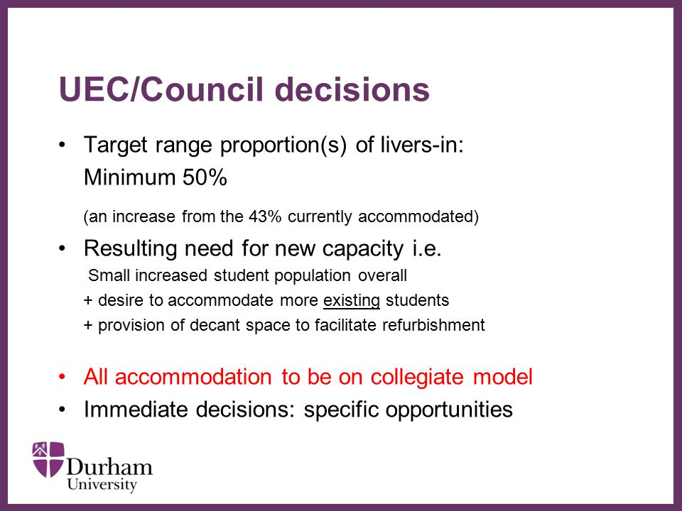 UEC/Council decisions