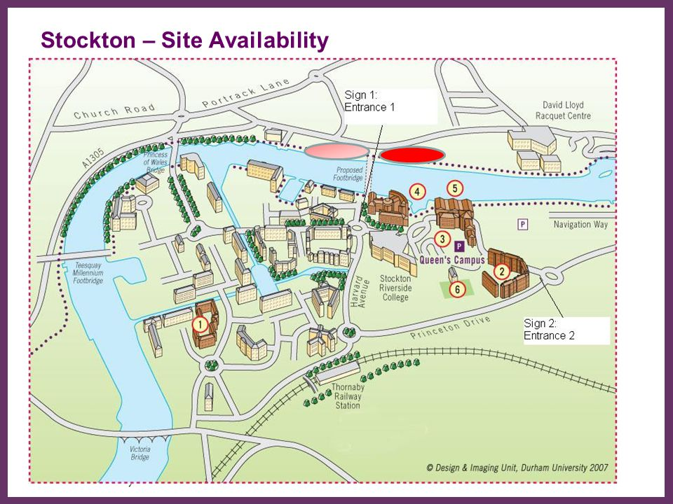 Stockton – Site Availability