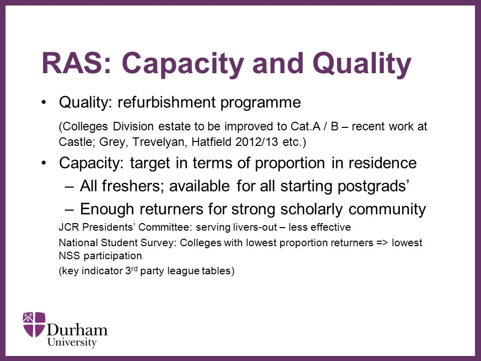RAS: Capacity and Quality