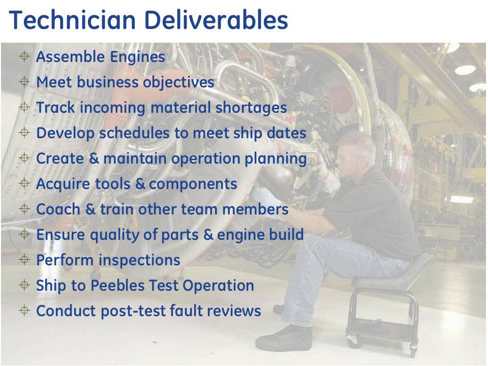 Technician Deliverables