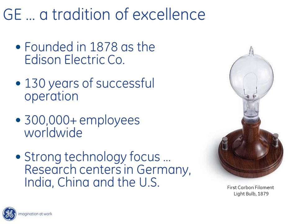 GE … a tradition of excellence