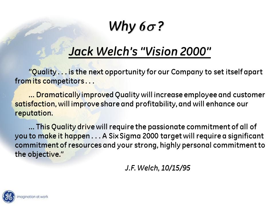 Why 6s Jack Welch's Vision 2000
