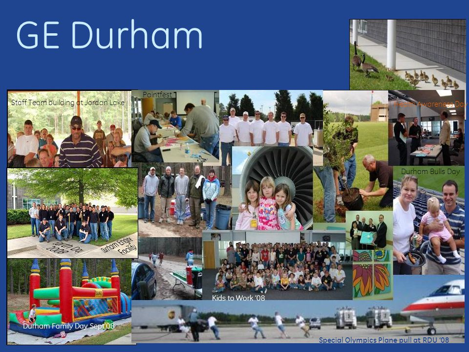GE Durham Paintfest Staff Team building at Jordan Lake