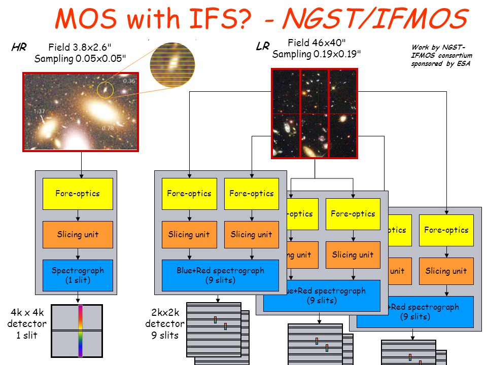 MOS with IFS - NGST/IFMOS
