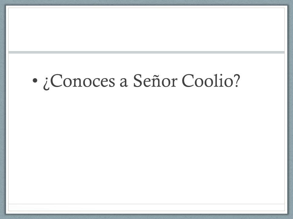 ¿Conoces a Señor Coolio
