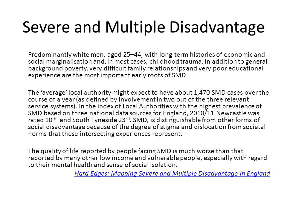 Severe and Multiple Disadvantage