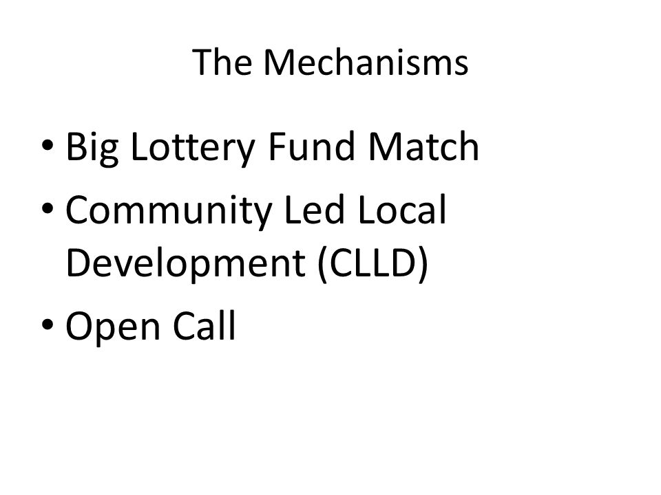 Community Led Local Development (CLLD) Open Call