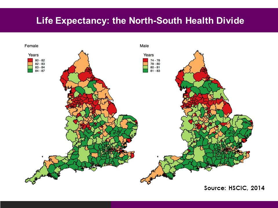 Life Expectancy: the North-South Health Divide