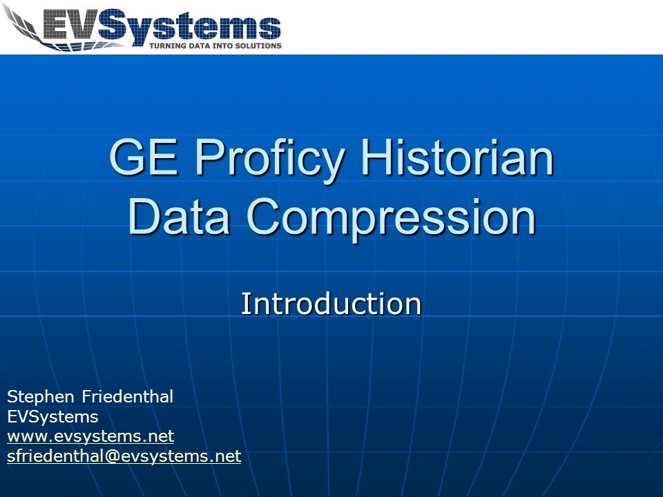 GE Proficy Historian Data Compression