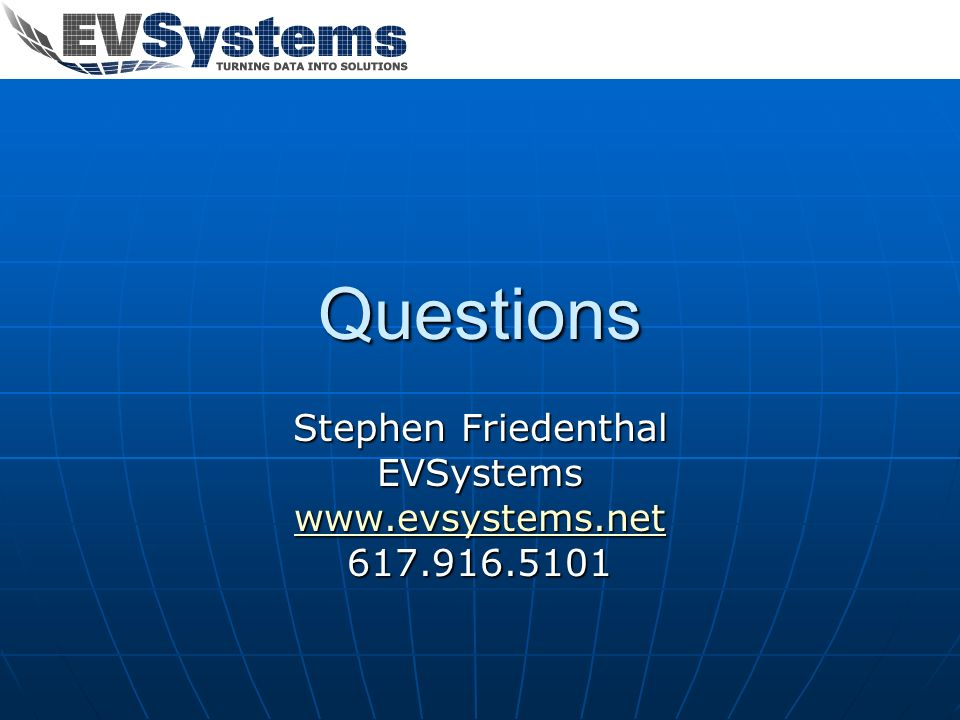 Stephen Friedenthal EVSystems