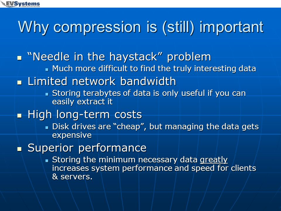 Why compression is (still) important
