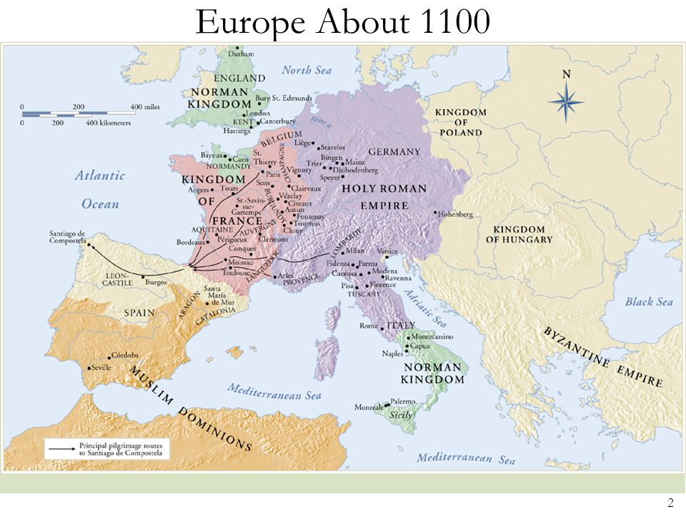Europe About 1100