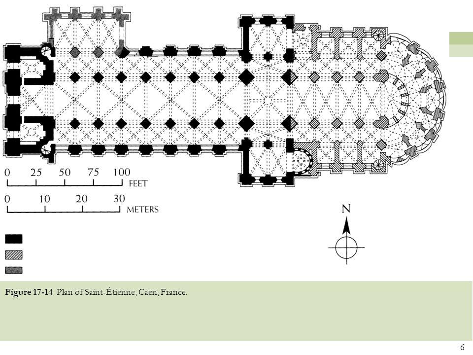 Figure 17-14 Plan of Saint-Étienne, Caen, France.