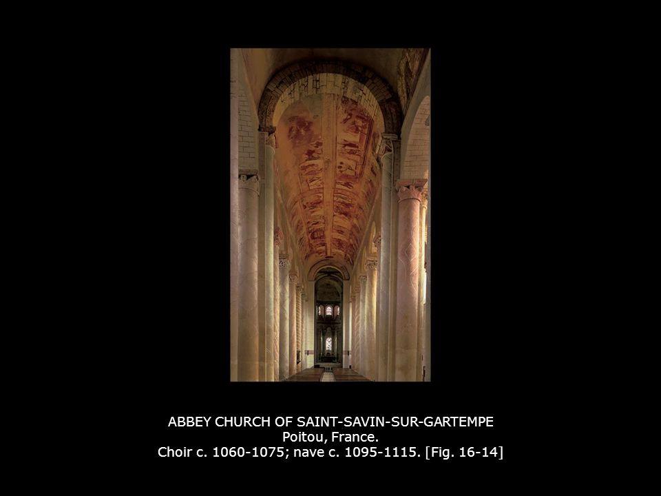 ABBEY CHURCH OF SAINT-SAVIN-SUR-GARTEMPE Poitou, France. Choir c