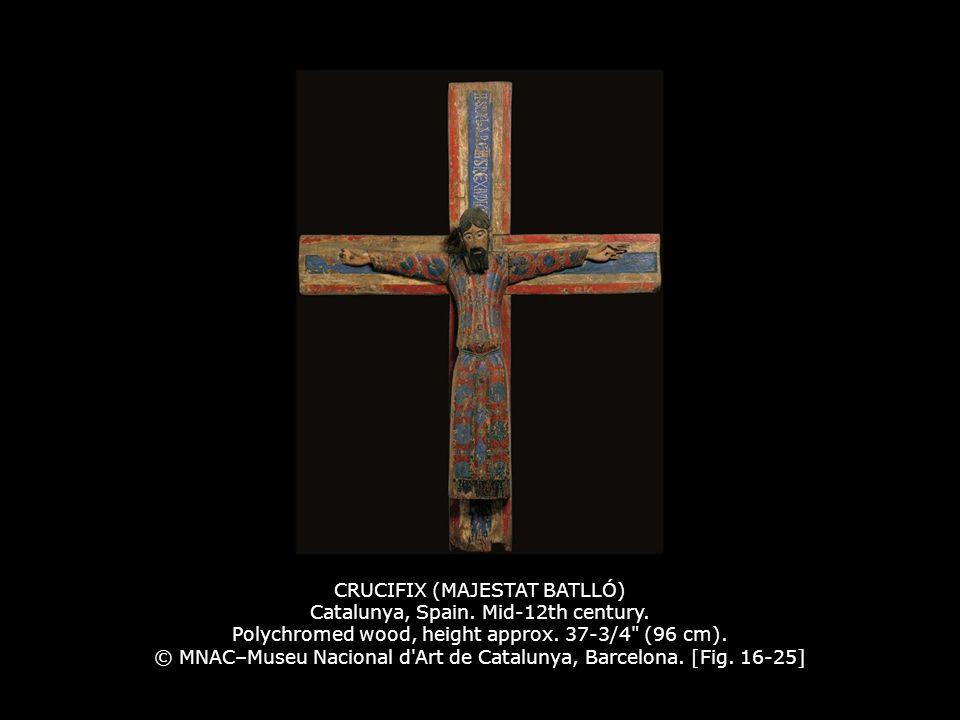 CRUCIFIX (MAJESTAT BATLLÓ) Catalunya, Spain. Mid-12th century